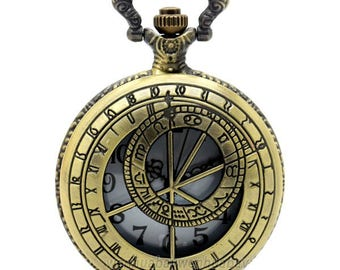 Vintage Pocket Watch with chain. Time traveler.
