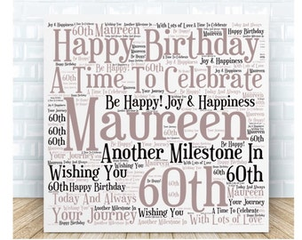 Birthday  Ceramic Plaque 60th, 70th, 80th, 90th