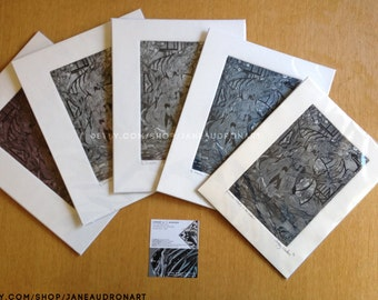 "Aquatint Etching - 5 Variations - ""Detective...? What's in the Smoke?"""