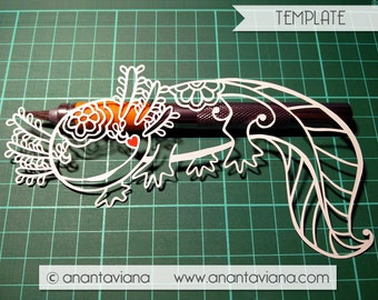 Papercut Template Commercial | Axolotl | Commercial Use | Design by Anantaviana