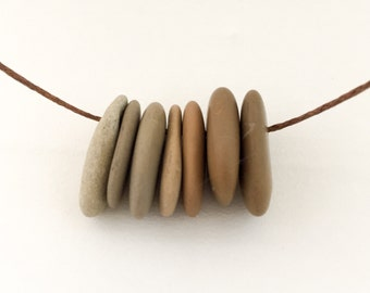 "Stone Necklace. ""All Lined Up"""