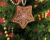 Star Cinnamon Scented Cookie Ornament | Handcrafted | Not Real Cookie DO NOT EAT