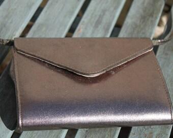 Metalic Envelope  Bag by Hilmar of Manchester, England True Vintage.   c1970s British Fashion Original.