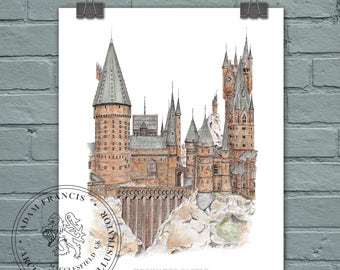 Harry Potter Hogwarts Castle. Detailed, Quality, Limited Edition FINE ART and PHOTO prints. A great unique gift for Harry Potter fans!