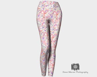 Pastel Art Leggings Unique Leggings Artsy Tights Workout Pants Yoga Leggings Pastel Fitness Leggings Printed Abstract Art Leggings Pretty