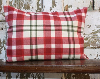 Decorative Christmas Plaid Pillow Cover, Throw Pillow Cover