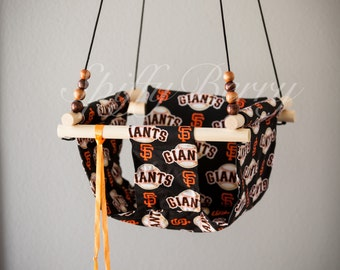 Giants Baby  Fabric Swing. Indoor / Outdoor Baby Todler Swing.Baby Swing Chair. Toddler Indoor Outdoor Canvas