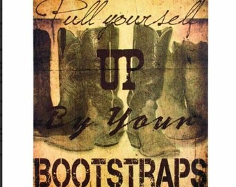 Boot Straps canvas