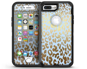 Gold Flaked Animal Light Blue 4 - OtterBox Case Skin-Kit for the iPhone, Galaxy & More