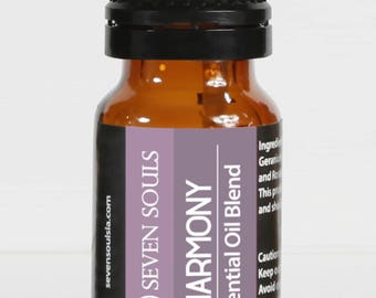 HARMONY Yoga & Meditation Essential Oils Blend. Jasmine, Patchouli, Palo santo and Sandalwood, for Reiki, Yoga, Meditation, Balancing Energy