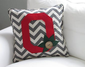 Ohio State inspired Pillow Cover