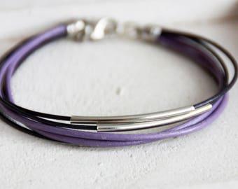 Bracelet, leather bracelet, bracelet,