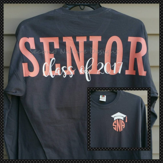 Long sleeve high school senior 2018 jersey shirt college for Selling shirts on etsy