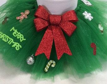 Christmas tutu, christmas tree tutu, tacky christmas tutu, tacky christmas sweater, holiday tutu, christmas tree skirt, baby christmas tutu