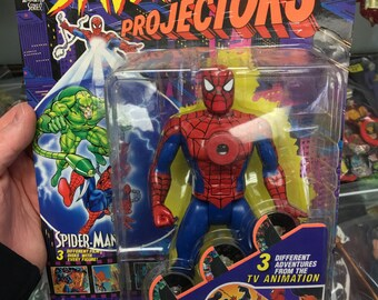 Spiderman Projectors - Amazing Spider Man Vintage 90's Cartoon Projector Toy MOC- Sealed