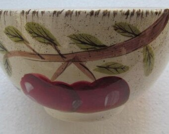 Apple Harvest Soup/Cereal Bowl by Canterbury Potteries Handpainted Collection