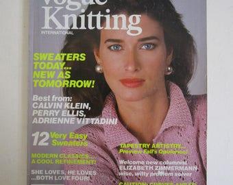 Vintage 1980s Magazine Vogue Knitting Intl Spring-Summer 1985 Craft DIY Vintage 80s Magazine