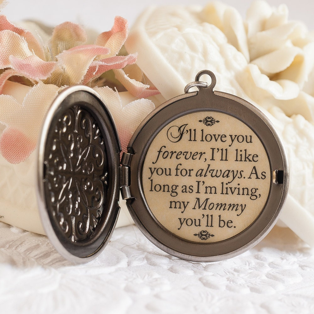 I Ll Love You Forever Quote: Mom And Me Quote Necklace I'll Love You Forever I'll