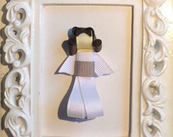 Princess Leia Hair Bow Ribbon Sculpture, Starwars