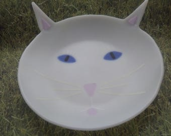 Meow! A fused glass bowl