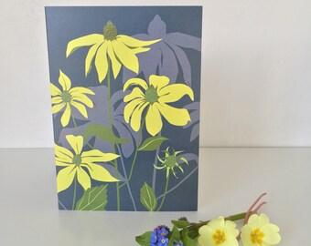Rudbeckia Greeting card - coneflower - floral - card for gardener - flower - spring - gardens