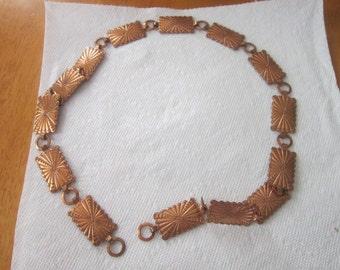 Vintage Native American Copper Belt or Necklace