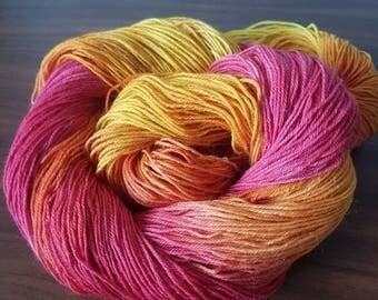 Hand Dyed Superwash Polwarth Sock Yarn