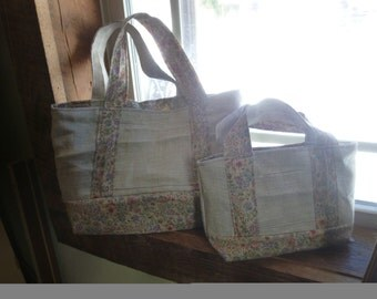 large totes, reversible and pockets! :D