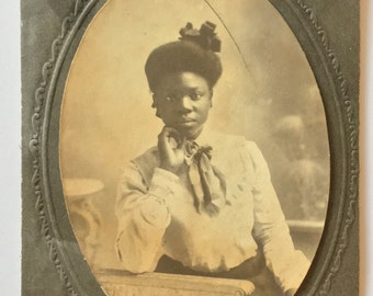 Beautiful young African-American woman  Vintage photograph-Black Americana