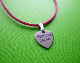 Much Loved Daughter Necklace, Much Loved Daughter Charm Necklace, Daughter Charm Necklace, Daughter Necklace, Daughter Gift, Daughter Gifts