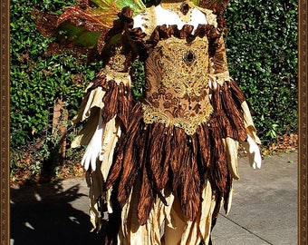 Children's Fairy Wings/ Fairy Princess Dress**RTS**Bronze/Gold**9-10 Yrs. Old**FREE SHIPPING**Costume/Photography/Halloween