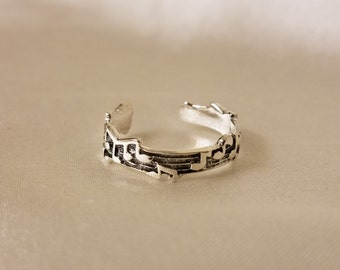 Musical note adjustable toe ring, Music Lover midi ring, toe ring, knuckle ring