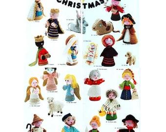 DIGITAL DOWNLOAD PDF Vintage Crochet Pattern Christmas Nativity Christmas Decorations