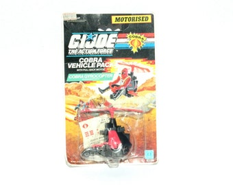 1989, GI Joe Vehicle, Collectible Toy, GI Joe, G.I.Joe Figure, GI Joe Cobra, Cobra Gyrocopter, Hasbro Toys, Hasbro Vehicle, Action Figures