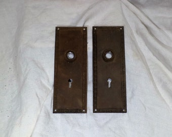 Door Latch Plates, Antique Door Lock Hardware, Library Door Hardware Salvage
