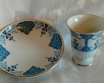 Pretty 1984 Avon Collectible Demitasse Tea/Espresso Cup and Saucer - Excellent Condition!