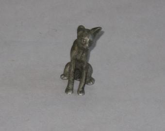 Vintage miniature pewter cat figurine Geo S Preisner
