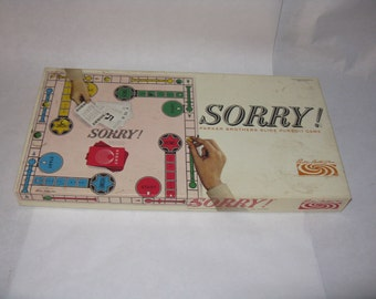 Vintage Sorry board game Parker Brothers 1964