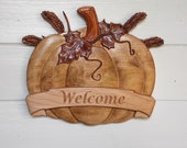 Wood Pumpkin Welcome Sign...