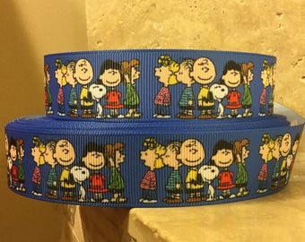 5 YDS Charlie Brown Peanuts Ribbon