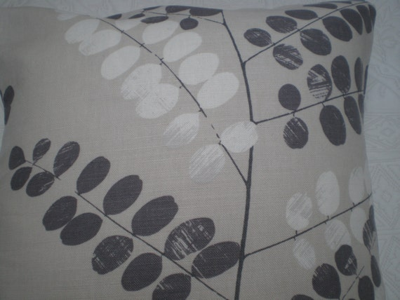 John Lewis 'Malin' Cushion Cover Steel