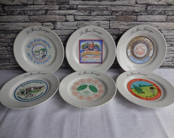 Set of 6 French Fromages plates