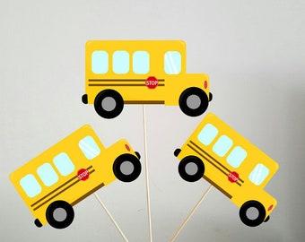 School Bus Centerpieces