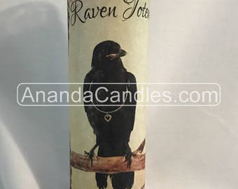 Hoodoo Voodoo Raven Totem Fixed 7 Day Candle Witchcraft