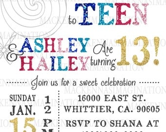 Tween to Teen Birthday Invitation-DIGITAL