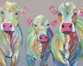 Abstract cow family