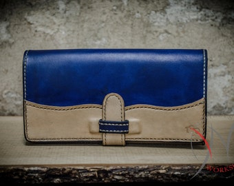 Leather wallet Wave