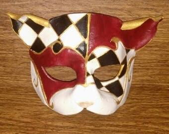 Leather Vanetian Cat Mask: Custom