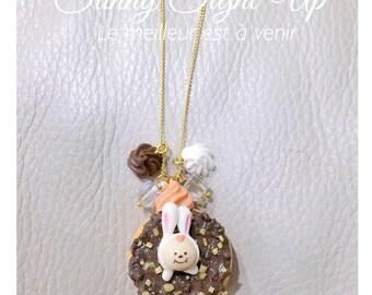 Doughnut Bunny Necklace