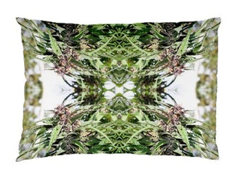 Standard Pillow Case: Ganja Pillow Case in Williams Wonder Marijuana Print, Bed Pillow Case, Cannabis Pillow Case- MADE TO ORDER